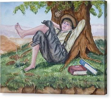 Tom Sawyer Adventures Canvas Print by Kelly Mills
