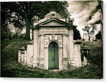 Tomb Of Woodlawn Canvas Print by Jessica Jenney