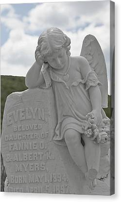 Tombstone Angel For An Angel Canvas Print by Christine Till