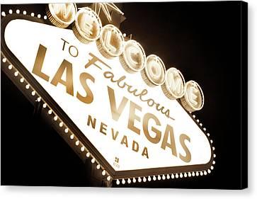 Tonight In Vegas Canvas Print by Az Jackson