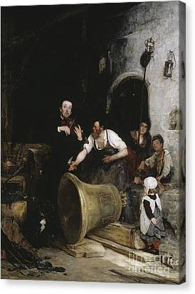 Toning The Bell Canvas Print by Walter Shirlaw