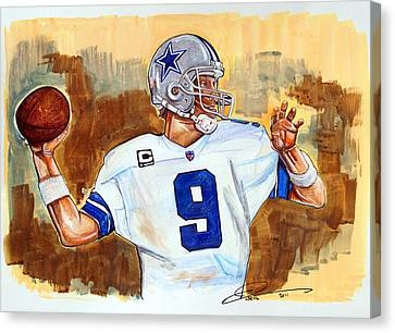 Tony Romo Canvas Print by Dave Olsen