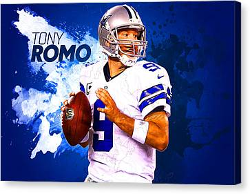 Tony Romo Canvas Print by Semih Yurdabak