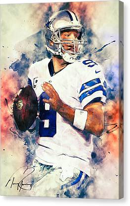 Tony Romo Canvas Print by Taylan Soyturk