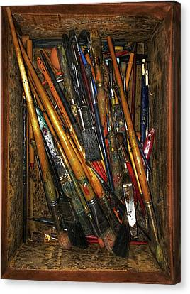 Tools Of The Painter Canvas Print by Jame Hayes