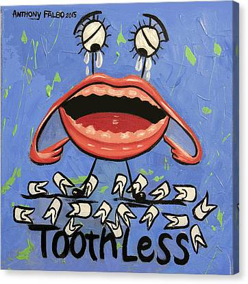 Toothless Canvas Print by Anthony Falbo