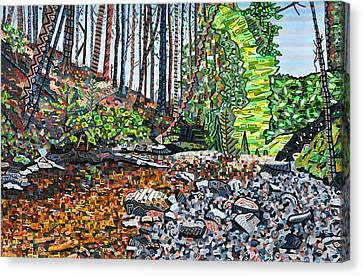 Top Of Dingman Falls Canvas Print by Micah Mullen