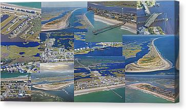 Topsail Island History From Above  Canvas Print by Betsy C Knapp