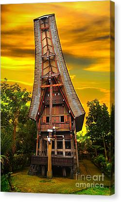 Toraja Architecture Canvas Print by Charuhas Images