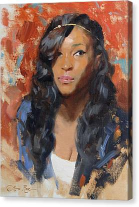 Tori Portrait Demo Canvas Print by Anna Rose Bain