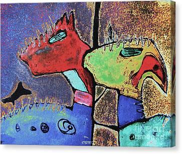 Toro Muerto 3 Canvas Print by Pamela Iris Harden