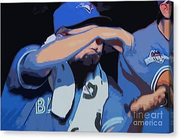 Toronto Blue Jays Stir It Up Canvas Print by Nina Silver