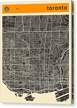 Toronto Map Canvas Print by Jazzberry Blue