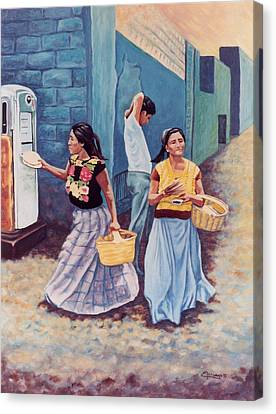 Tortilla Sellers Canvas Print by Emiliano Campobello