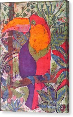 Toucan Batik Canvas Print by Caroline Street