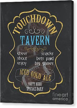 Touchdown Tavern Canvas Print by Debbie DeWitt