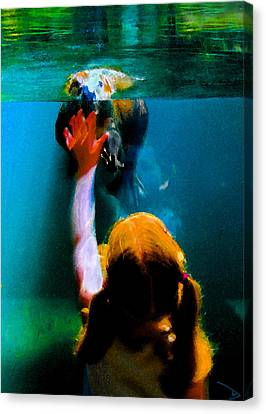 Touching Canvas Print by David Lee Thompson