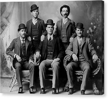 Tough Men Of The Old West 2 Canvas Print by Daniel Hagerman