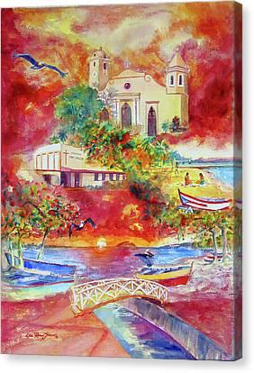 Tour Around Aguadilla Puerto Rico Canvas Print by Estela Robles
