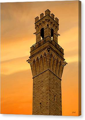 Tower Aglow Canvas Print by Sue  Brehant