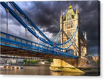 Tower Bridge - London Landmark Canvas Print by Mark E Tisdale