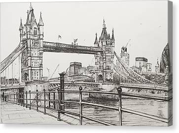 Tower Bridge Canvas Print by Vincent Alexander Booth