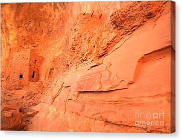 Tower House In The Cliff Canvas Print by Adam Jewell