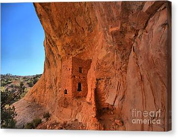 Tower House Ruin Canvas Print by Adam Jewell