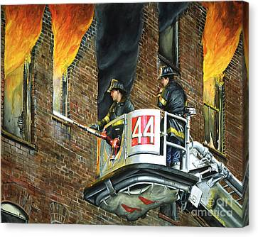 Tower Ladder 44-south Bronx Canvas Print by Paul Walsh