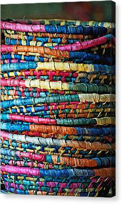 Tower Of Baskets Canvas Print by Gwyn Newcombe