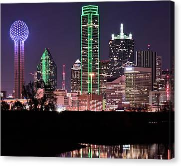 Towering Over Dallas Canvas Print by Frozen in Time Fine Art Photography