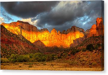 Towers Of The Virgin Two Canvas Print by Paul Basile