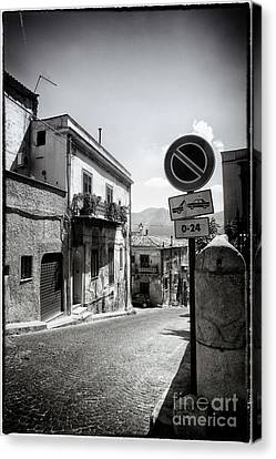 Towing Zone Canvas Print by Madeline Ellis