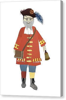 Town Crier Canvas Print by Isoebl Barber
