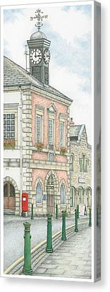 Town Hall Clock Garstang Lancashire Canvas Print by Sandra Moore