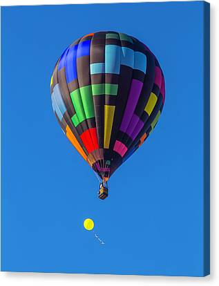 Toy Balloon And Hot Air Balloon Canvas Print by Garry Gay