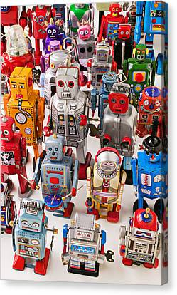Toy Robots Canvas Print by Garry Gay