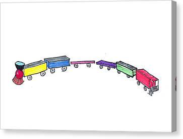 Toy Train Canvas Print by Judy Hall-Folde