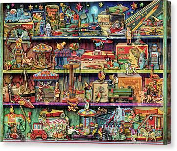 Toy Wonderama Canvas Print by Aimee Stewart