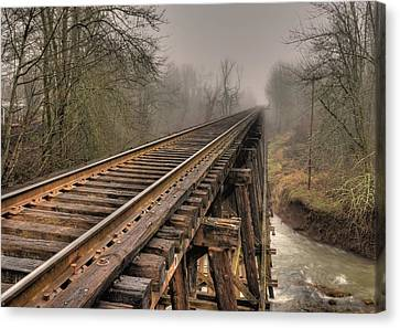 Track To Some Where Canvas Print by Peter Schumacher