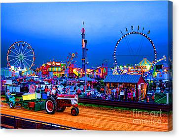 Tractor Pull At The County Fair Canvas Print by Olivier Le Queinec