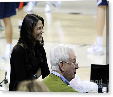 Tracy Wolfson Bill Raftery I  Canvas Print by Robert Yaeger