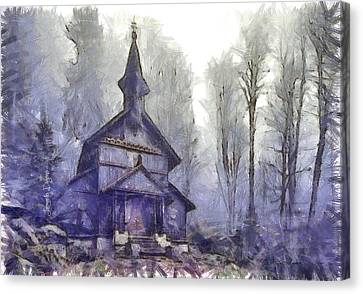 Traditional Church Canvas Print by Leonardo Digenio
