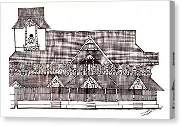 traditional Kerala house Canvas Print by Farah Faizal