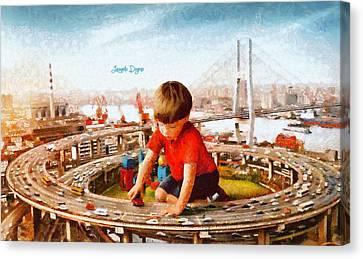 Traffic Engineer Canvas Print by Leonardo Digenio