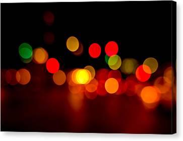 Traffic Lights Number 8 Canvas Print by Steve Gadomski