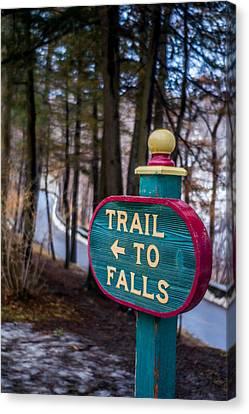 Trail To Falls Canvas Print by Carlos Ruiz