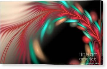 Trailing Hearts Canvas Print by Sandra Bauser Digital Art