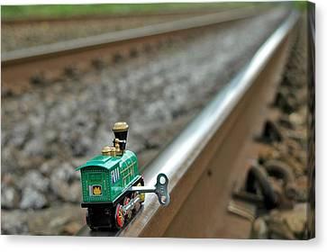 Train On Tracks Canvas Print by Bill Kellett