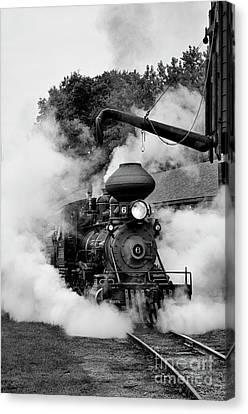 Train Steam Engine #6 Canvas Print by Tamara Becker